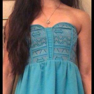 Urban outfitters tribal print strapless mini dress